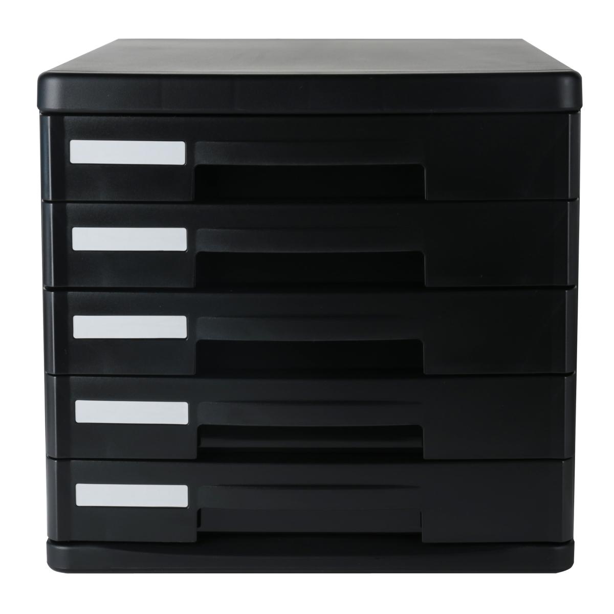 Компетентный шкаф для документов 9773 Настольный шкаф для консолидации Пластиковый ящик для шкафа 5 слоев незалоченный черный