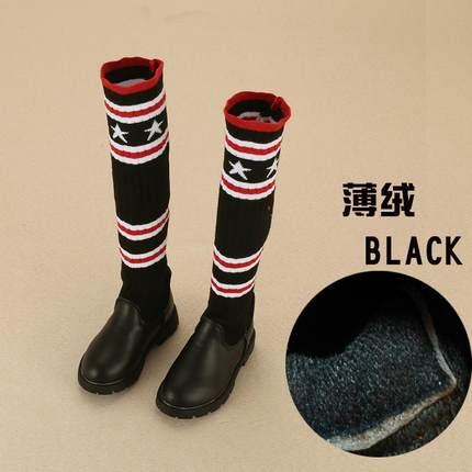 女童高靴子洋气女童靴子童鞋2018秋冬新款韩版儿童过膝靴时装靴公