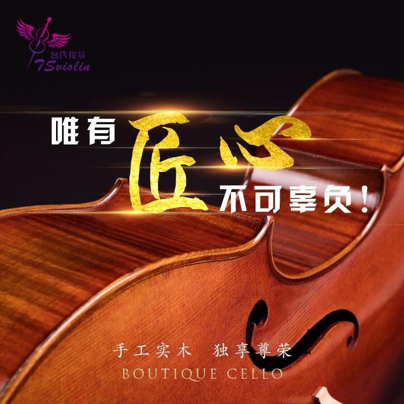 大提琴实木纯手工专业级成人演奏儿童进口欧料独奏大提琴欧料