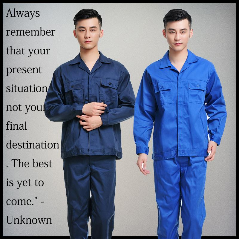 Spring and autumn work suit mens uniform long sleeve electrician welder factory workshop labor protection work clothes