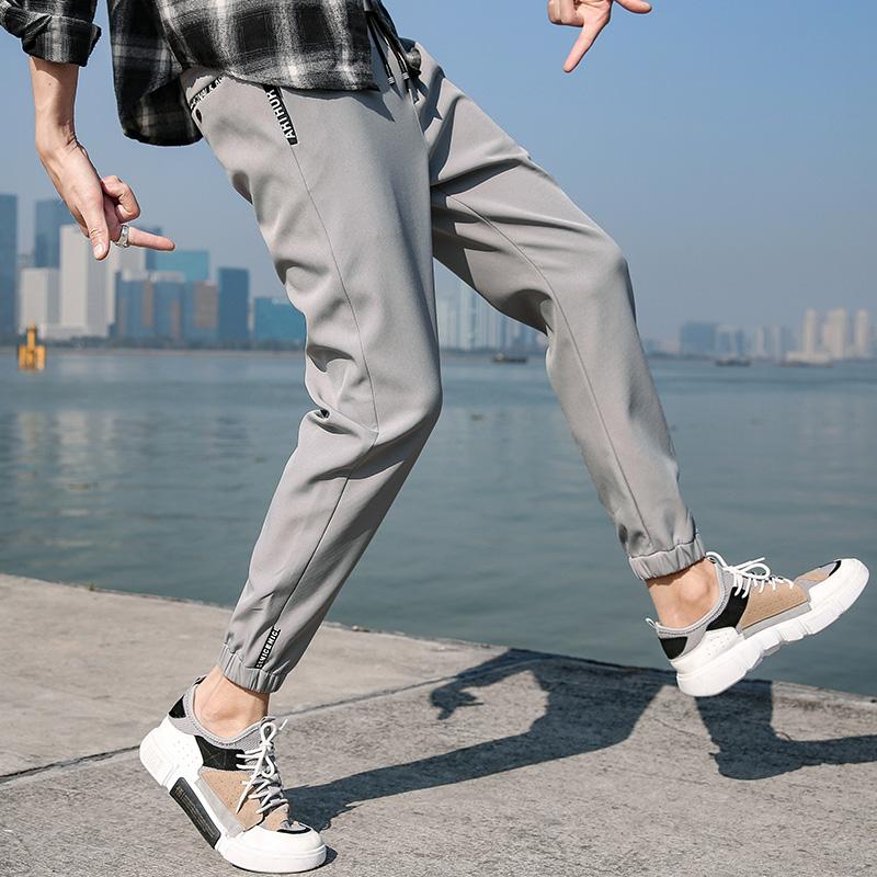 工装裤男潮牌韩版潮流夏季薄款九分百搭运动束脚休闲男士哈伦裤