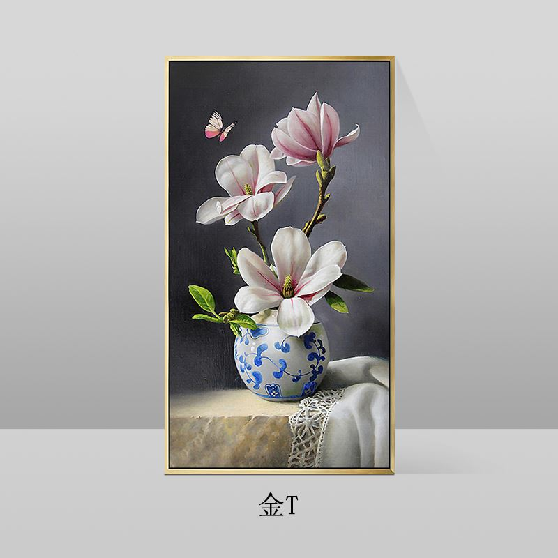 写实画装饰画约挂画新中式青花瓷纯手绘画