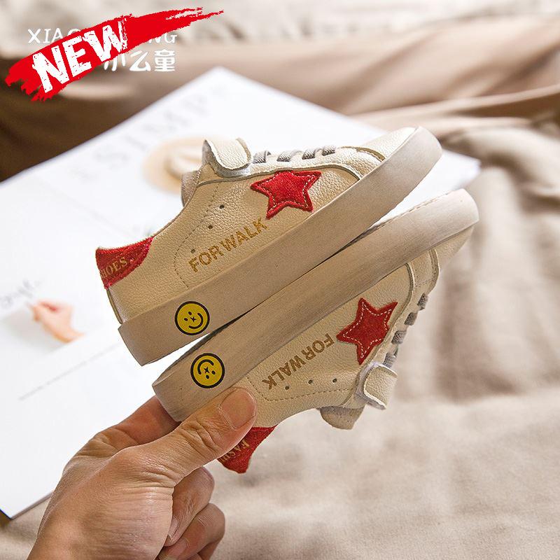女童鞋子2019小白儿童新款小脏鞋百搭学生男童板鞋春季鞋,可领取元淘宝优惠券