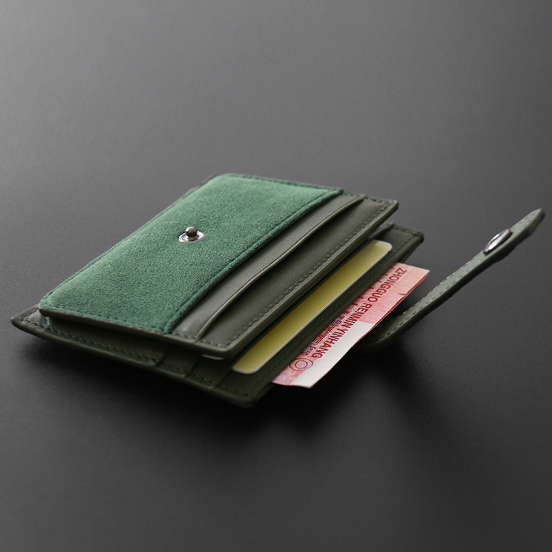 ALCANTARA Suede Fur Simple Bank Card Case Compact Mini Multi-card Leather Case Multi-function Driver's License