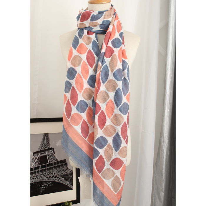 Summer sunscreen and sunshade shawl spring and autumn cotton hemp womens thickened scarf