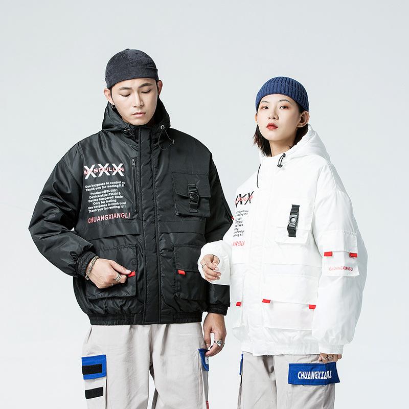 情侶 冬季原創男女同款棉衣棉服青少年機能工裝外套加厚夾克風衣