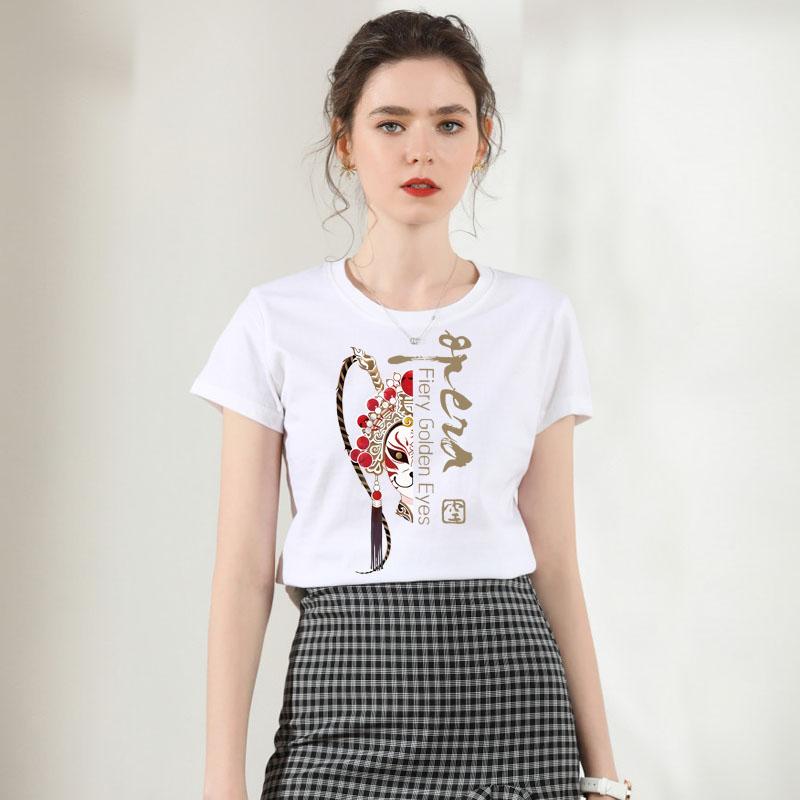 2020新款卡通宽松圆领T恤女短袖情侣夏装大码半袖ins体恤韩版上衣图片