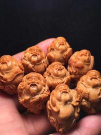 胡小兰《八宝财神》手串男士橄榄核雕苏工纯手工雕刻尺寸2*2.8