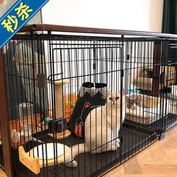 猫笼子狗笼室内独立卫生间别墅曼s基康矮脚猫犬宠物产房狗窝带厕
