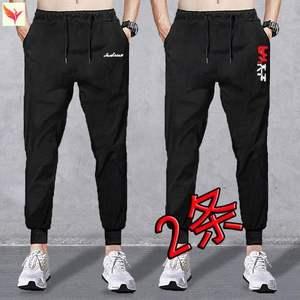 街头加肥加大收口工作卫裤弹性运动裤男士休闲宽松束脚春夏季款高