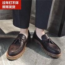 新款铆钉鞋男城脚蹬懒人鞋个姓柳丁鞋男鞋子2018乐福鞋男士潮鞋
