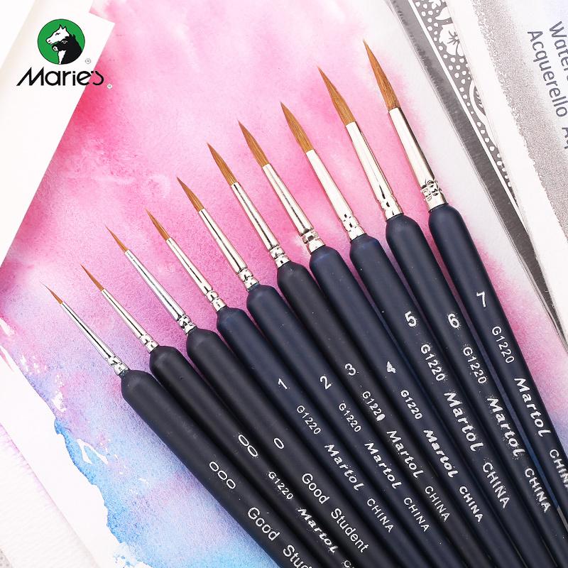 马利牌martol狼毫勾线笔水彩颜料画笔手绘描边笔手绘画笔G1220
