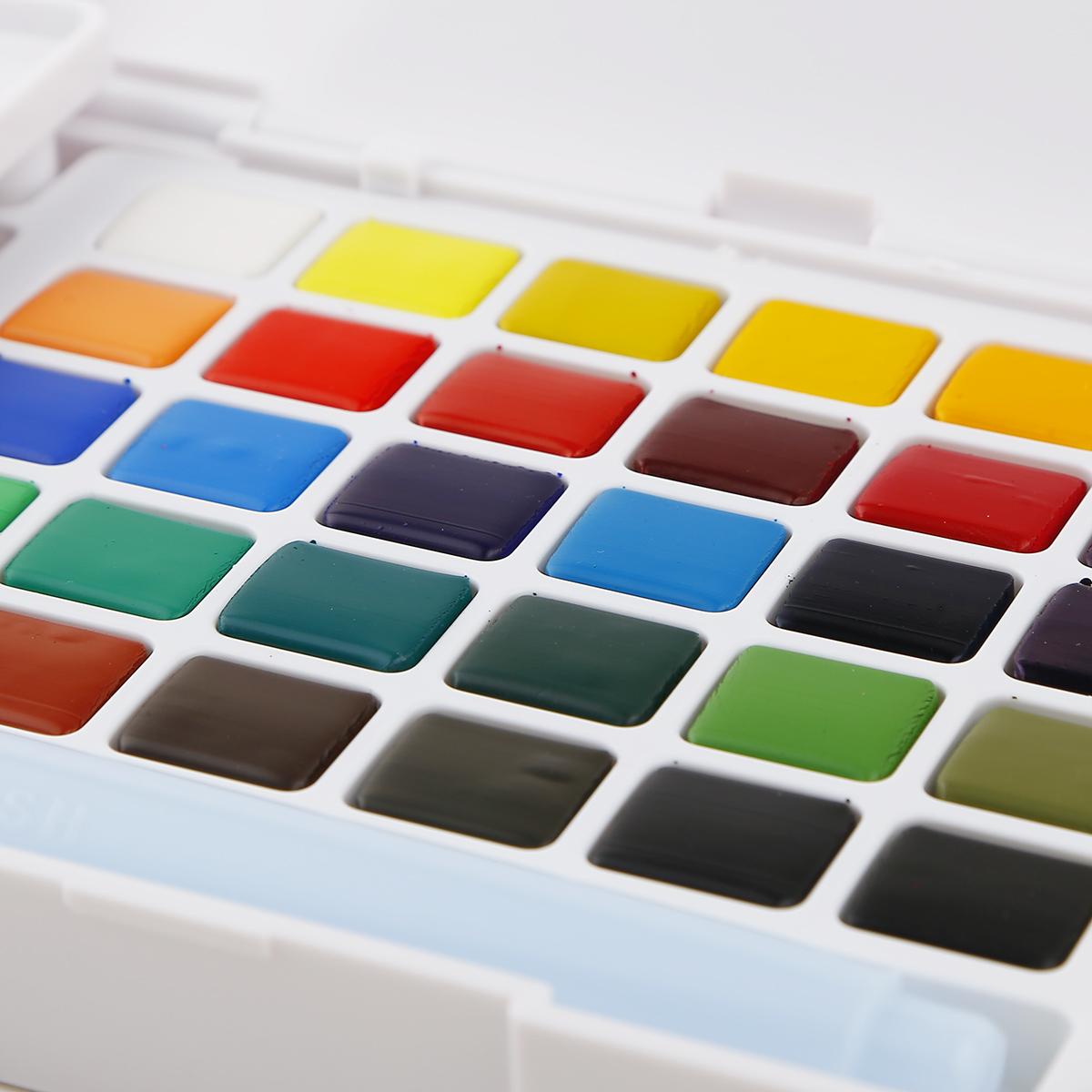 櫻花泰倫斯固體水彩顏料套裝30色寫生透明固體水彩24色48色 順豐