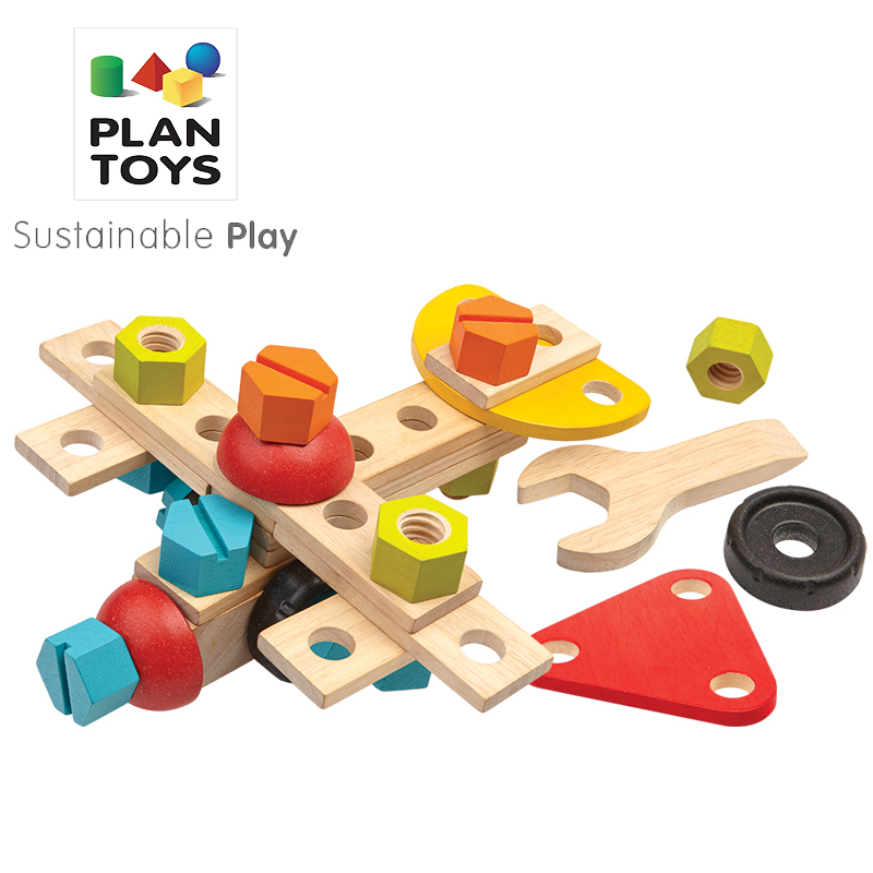 进口PlanToys儿童拆卸工具箱螺母组合男生拆装组装益智拼装玩具
