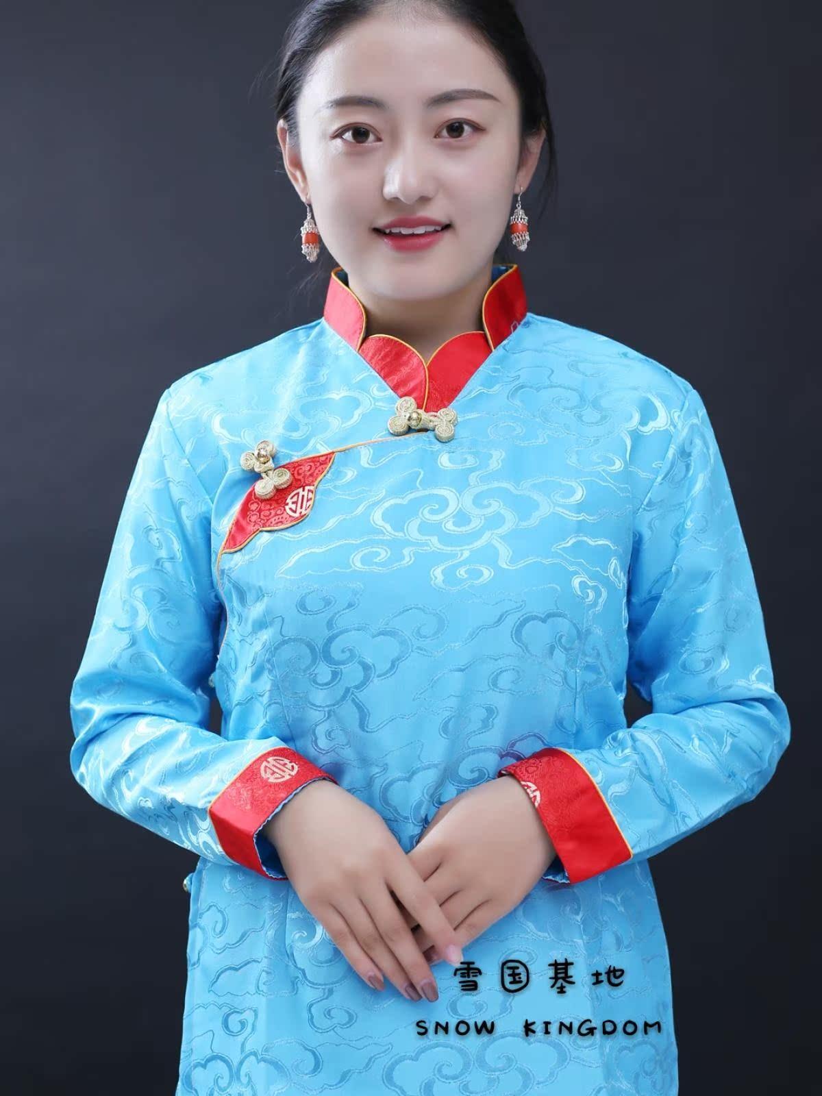 苏拉克夏西藏女士锅庄表演舞蹈藏族藏裙藏装西藏藏式藏袍藏服衬衣