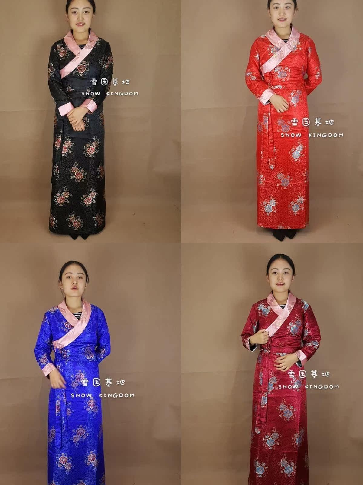苏拉克夏西藏女款西藏服藏式服装西式藏装演出锅庄表演礼服藏服博