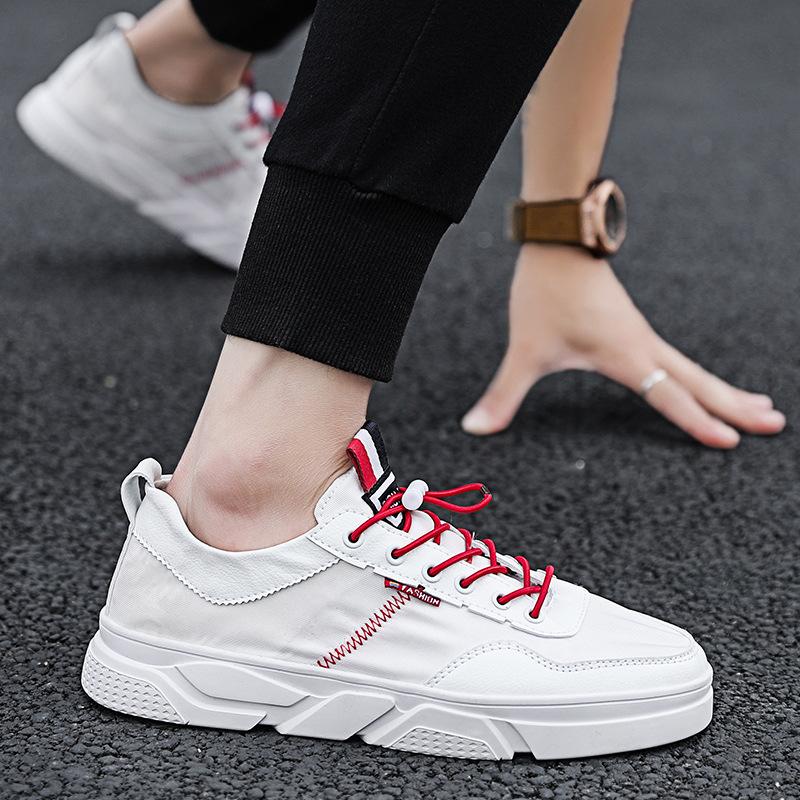 (用1元券)条万斯2019夏季新款帆布鞋男韩版潮流男士百搭休闲板鞋透气小白鞋