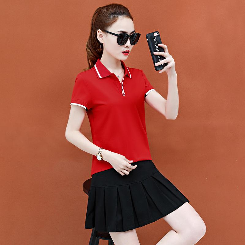 Authentic aoan stepping snow official website tennis skirt set womens summer 2020 new short sleeve badminton suit with wide lapel