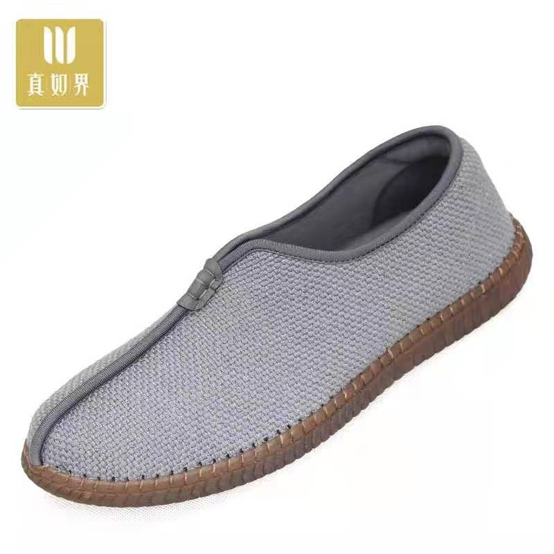 Monk shoes monk spring ox tendon soft soled Zen shoes breathable mens and womens monk shoes flat heel monk cloth shoes
