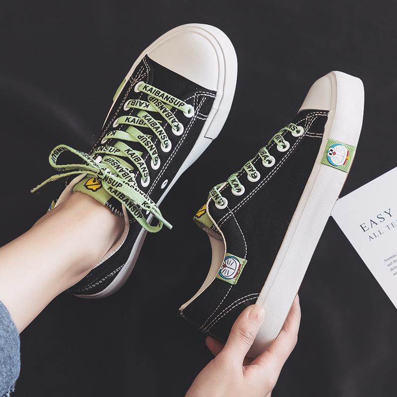 夏季12大童少女孩帆布鞋子13百搭女生板鞋14初中学生运动球鞋15岁