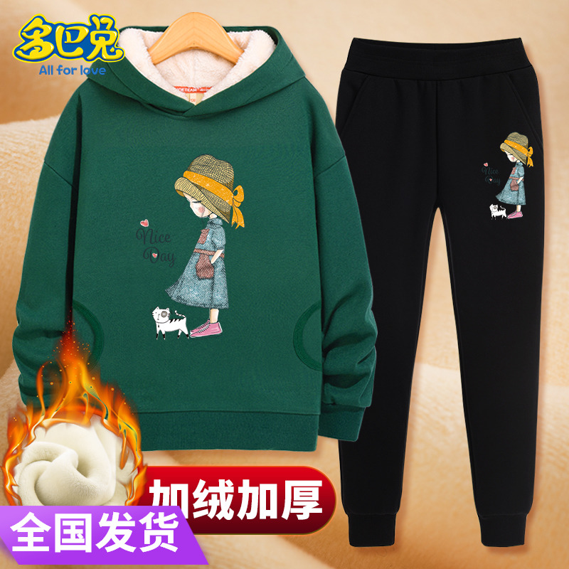 Girls pants with cashmere and new childrens casual pants for girls aged 12-15