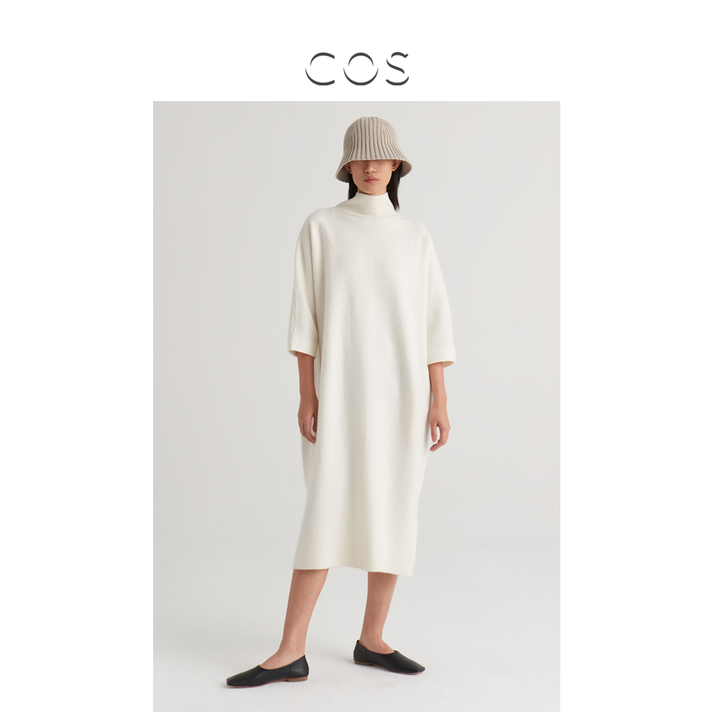 COS women's wool knitted turtleneck dress beige 2020 early autumn new products 0924892002