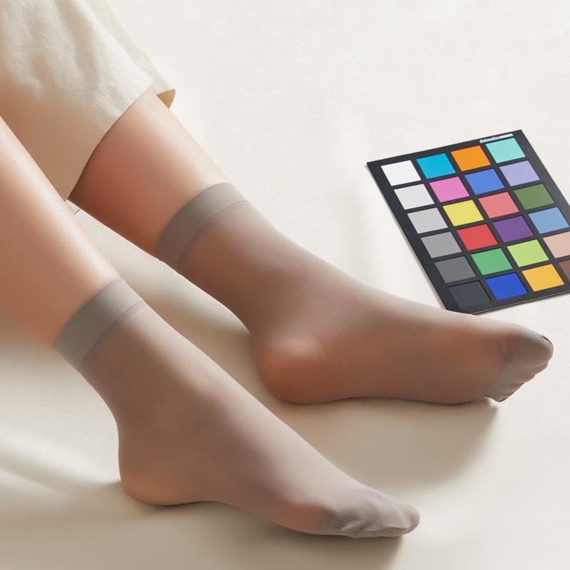 6双装哑光 SK正品天鹅绒短丝袜子 女款短统筒连裤袜 不易勾丝短袜