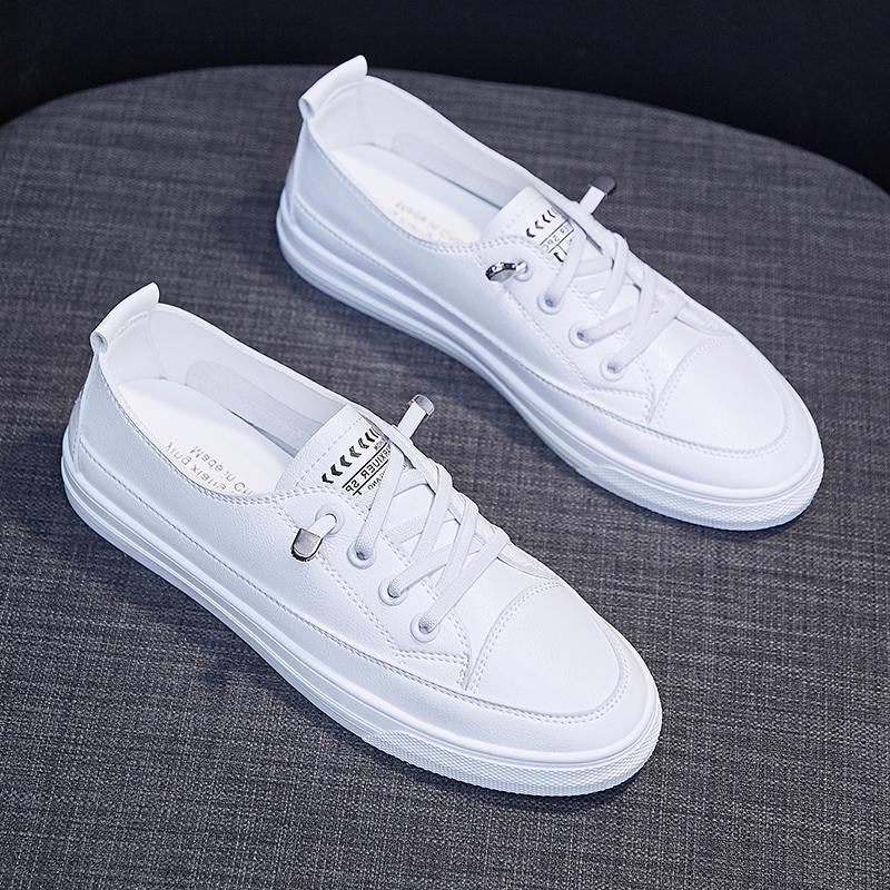 2021春款平底小白女鞋夏季薄款2...