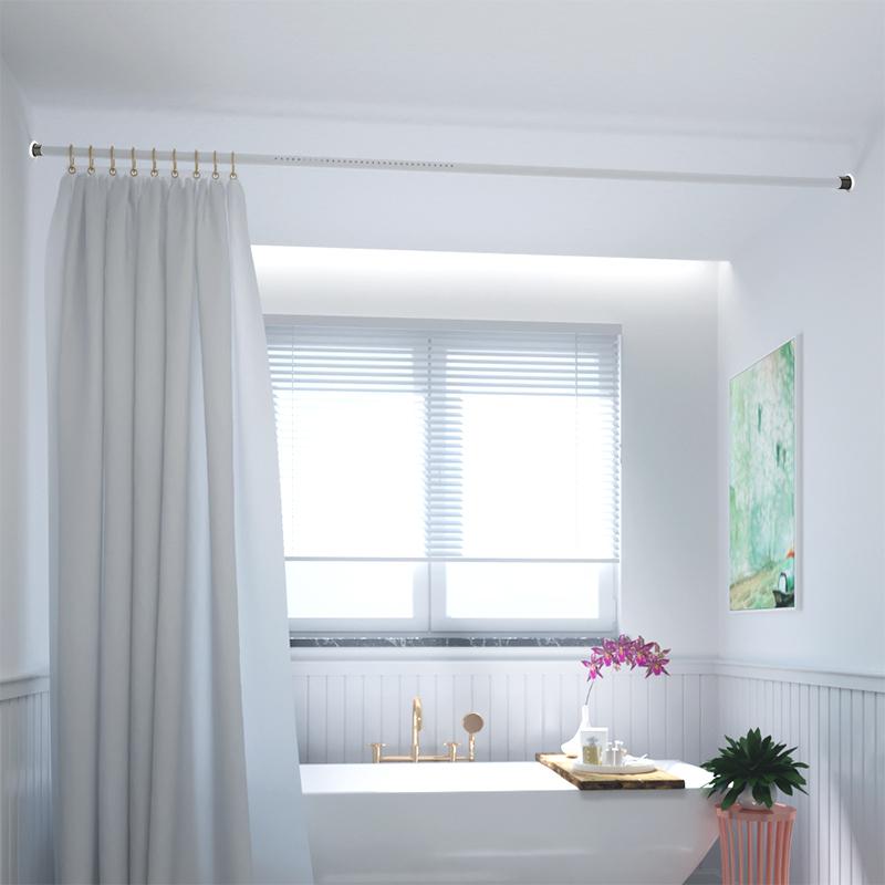 (用5元券)简易免打孔卧室客厅4米撑杆窗帘杆