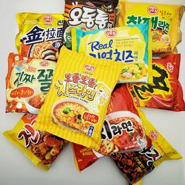 满5袋包邮韩国进口 不倒翁特浓芝士 泡菜 海鲜乌龙拉面炸酱方便面图片