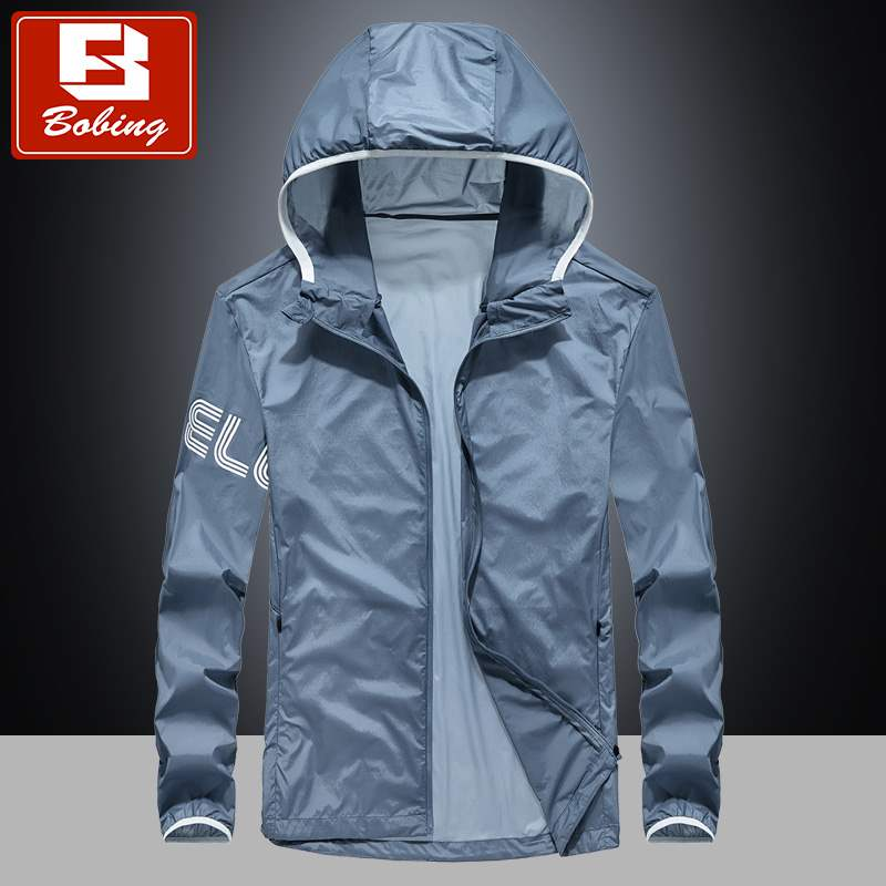 Spring skin clothes mens ultra thin ice silk Korean sports jacket young couple large outdoor sunscreen coat