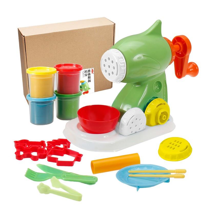 创意岛儿童橡皮泥无毒3d彩泥模具工具套装粘土手工制作面条机玩具