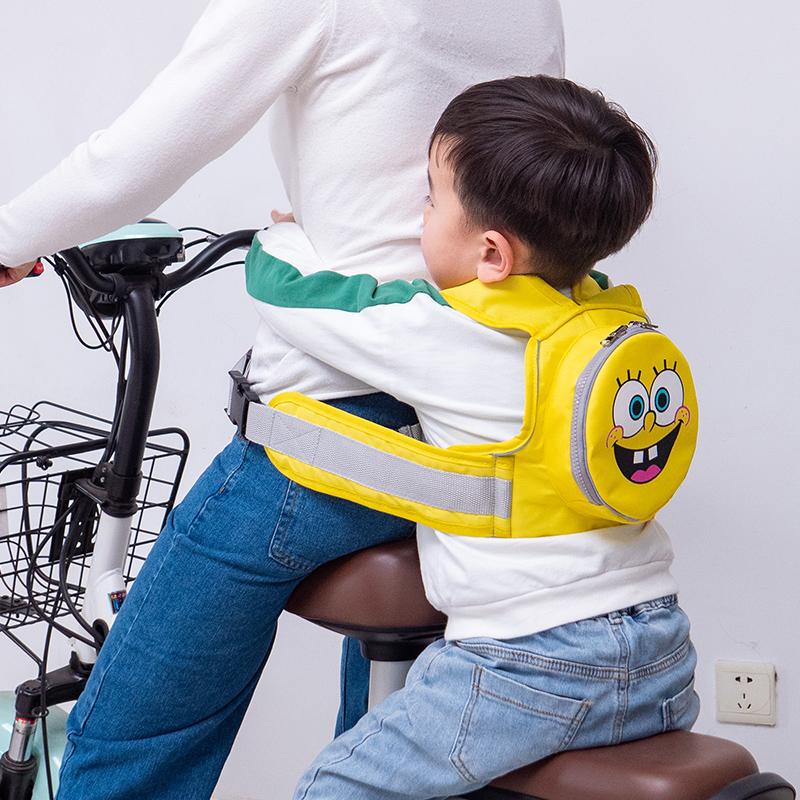 电动摩托车儿童安全背带骑行电瓶车宝宝防摔神器带娃小孩座椅绑带