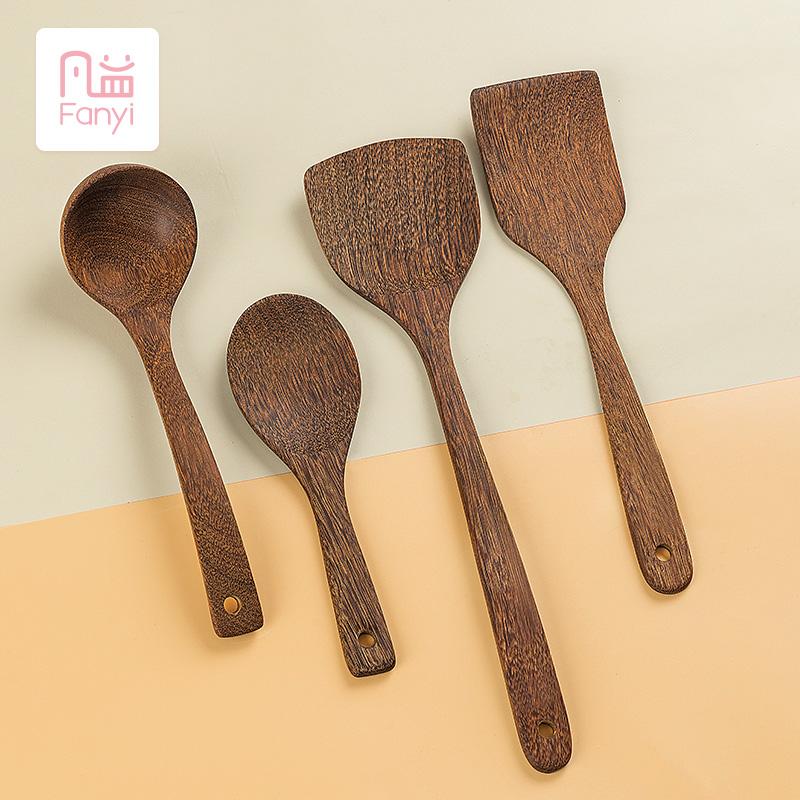 凡益鸡翅木锅铲家用厨房不粘锅专用木质厨具木勺耐高温炒菜铲子