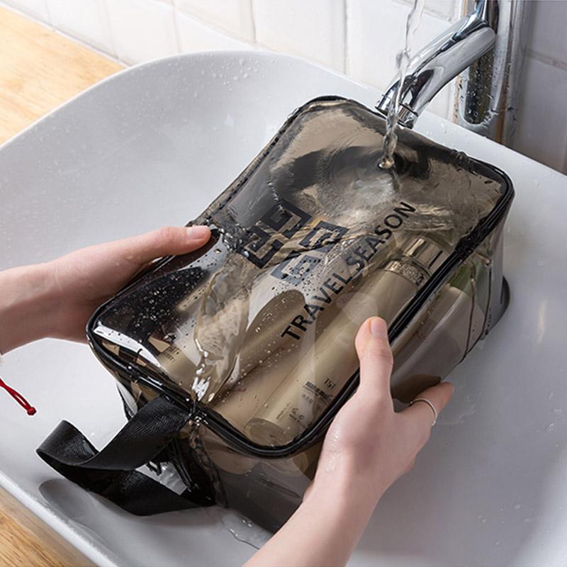 防水化妆包女网红大容量旅行化妆品收纳袋手提便携pvc透明洗漱包 - 封面