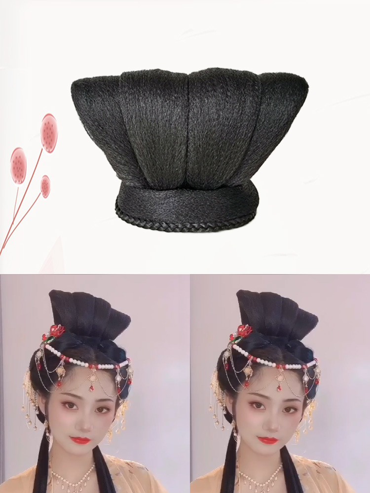 Ancient Hanfu wig Tang style restoration flying bun Tang Zi skirt with imperial concubine contract cos ancient style