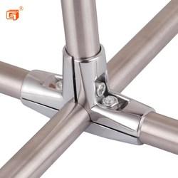 紧固件对接固定夹一分二不锈钢两通接头钢管连接件管扣件铁管货架