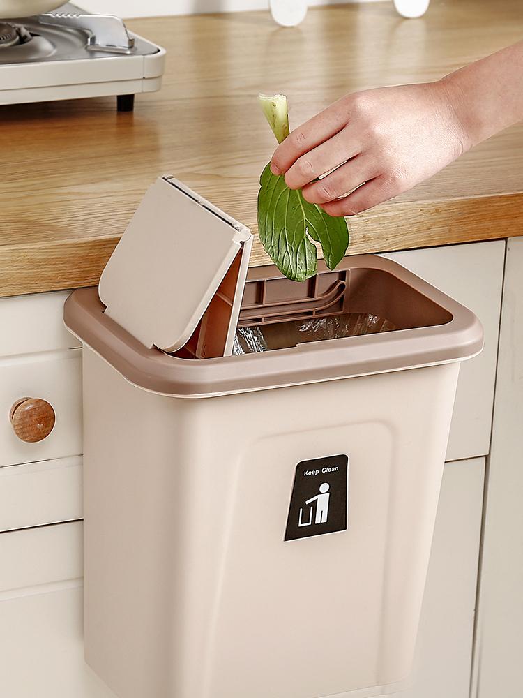 满25.80元可用1元优惠券厨房垃圾桶挂式分类家用橱柜门大号可壁挂式收纳桶厕所可挂拉圾筒