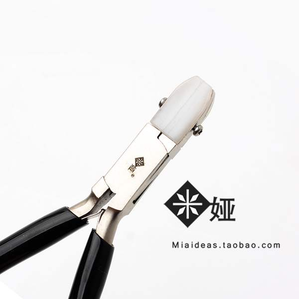 DIY jewelry pincers MIA wide flat mouth nylon pliers do not damage the line, pull straight line hand clamp winding tool.
