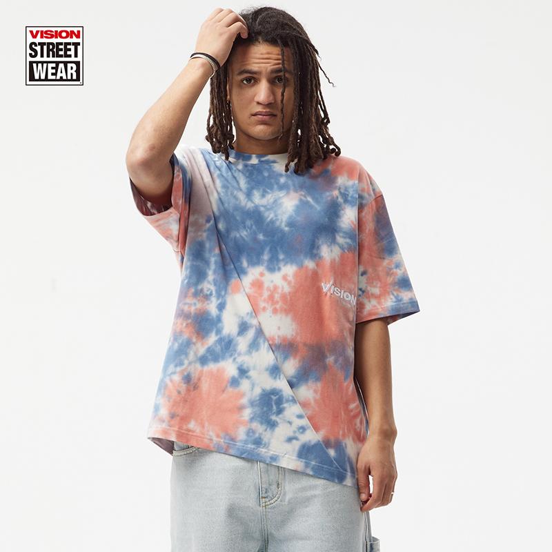 VISION STREET WEAR美式復古扎染寬松潮流短袖T恤男女同款 21新款