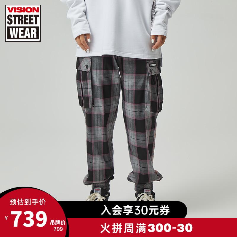 VISION STREET WEAR20秋冬常规版胶浆印花松紧抽绳梭织长裤