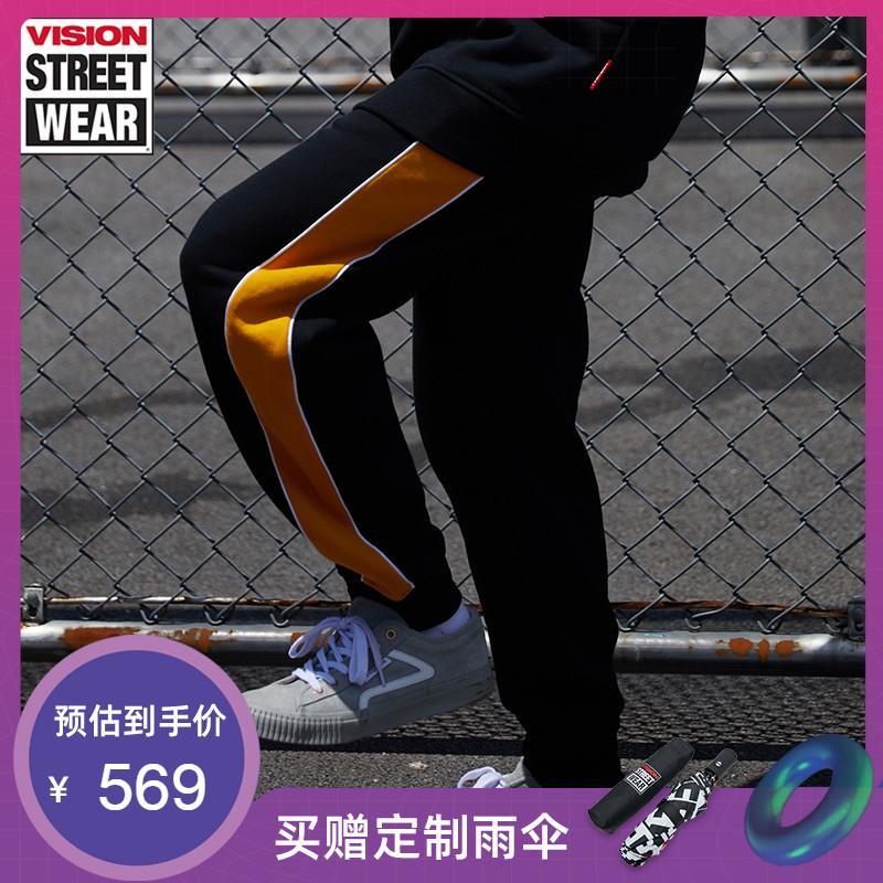 VISION STREET WEAR2019新款左侧鱼眼LOGO刺绣长裤男V193ND1016