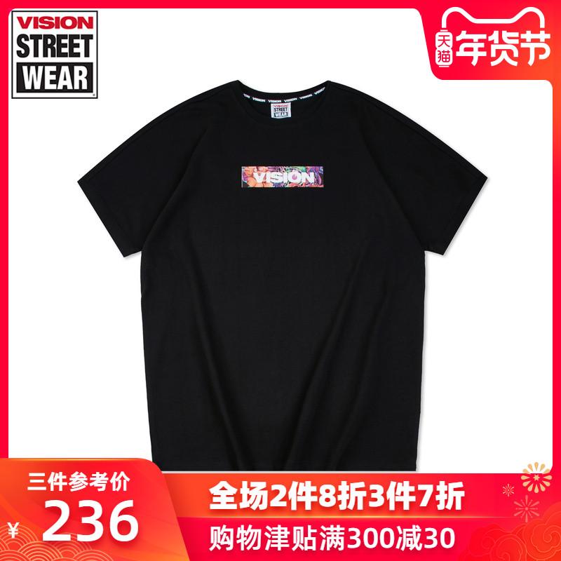 VISION STREET WEAR2019新款主题印花针织衫男针织衫女V192WC1051