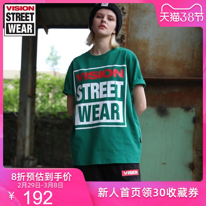 VISION STREET WEAR新款印花短袖圆领t恤男女同款V193NC1022