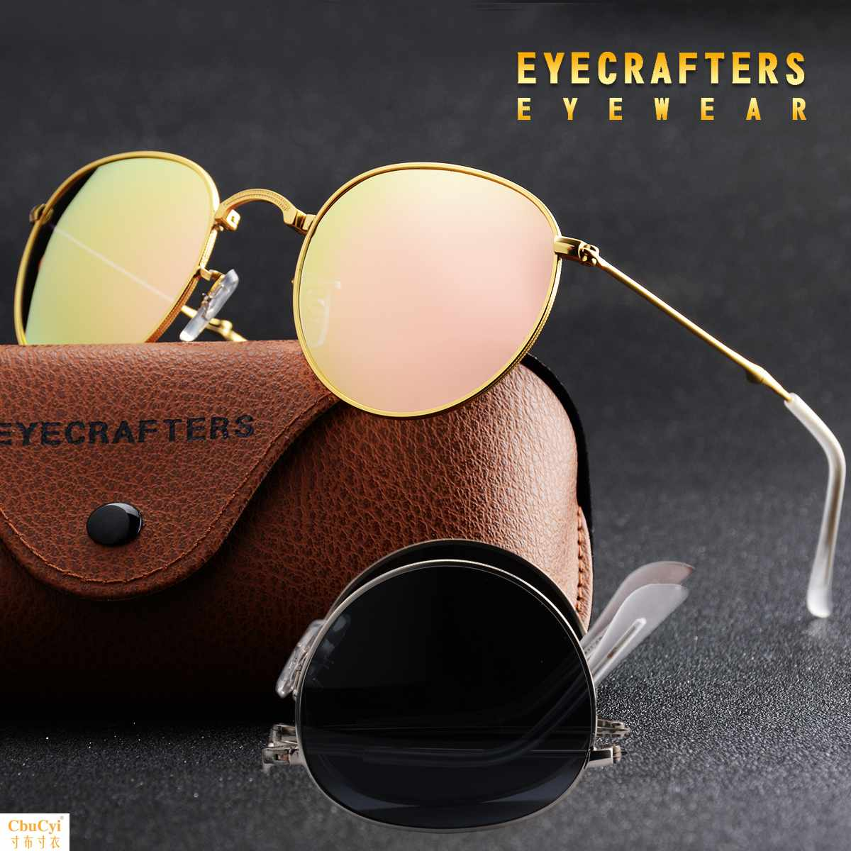 New folding and portable womens polarizing sunglasses fashionable mens small face long face Sunglasses personalized accessories glasses