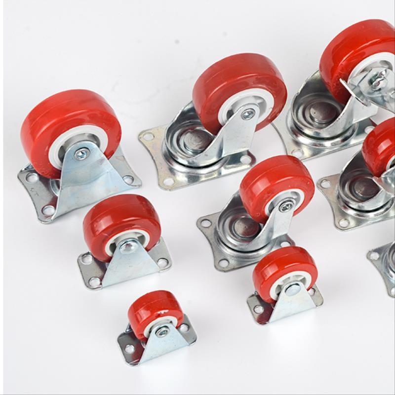 6寸万向轮轮子市场4/5/8寸小平板车手推车拉货轮拖车刹车脚轮轱。