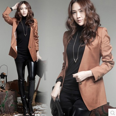 2021 new spring and autumn small suit womens Korean version medium and long slim ol thin suit coat womens fashion fashion