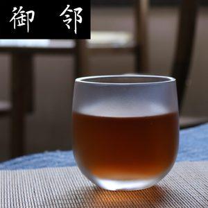 琉璃茶杯品茗杯 单杯主人杯 金箔手抓杯耐热 商务礼品定制logo