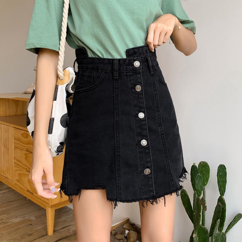 大码女装夏装新款2019洋气显瘦网红遮胯适合胯大腿粗的半身裙子潮券后76.70元