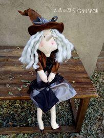 女巫布艺手工成品玩偶古董娃娃创意情人节礼物儿童节礼品复古人偶